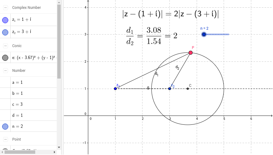 Locus of points from modulus of complex numbers GeoGebra – Locus Worksheet