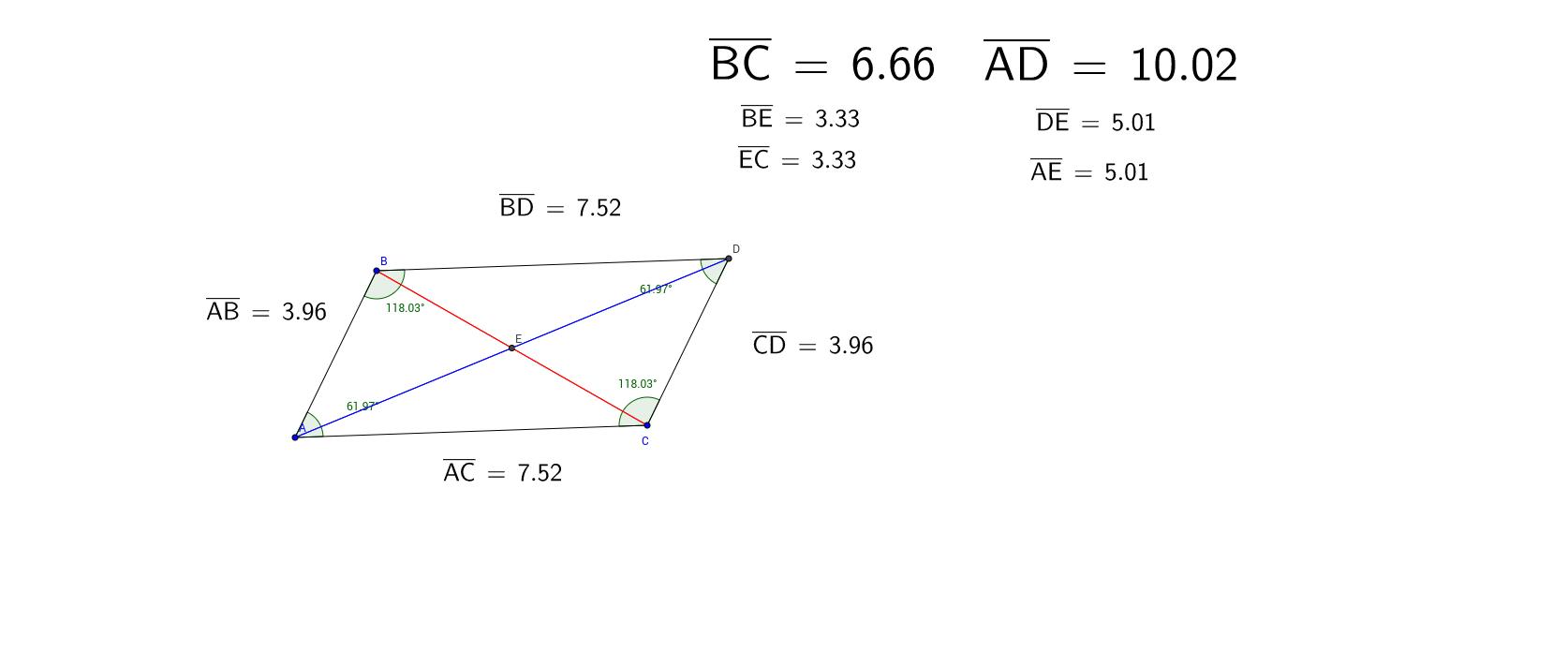Parallelograms discovering properties geogebra geogebra applet ccuart Gallery