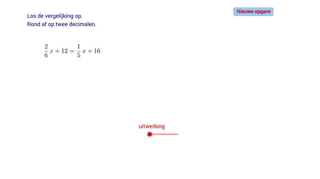 Vergelijkingen oplossen (D)
