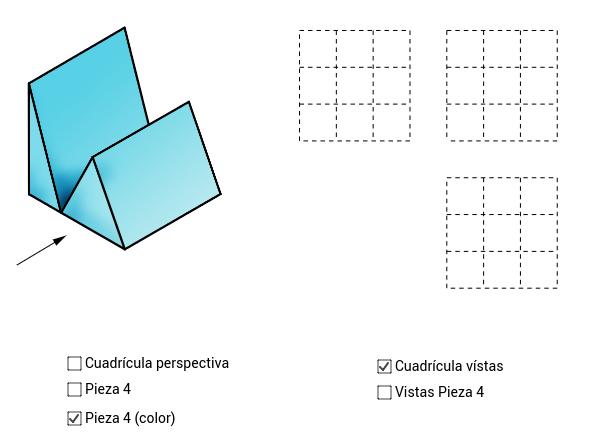 VISTAS/ISOMETRÍA (pieza 4)