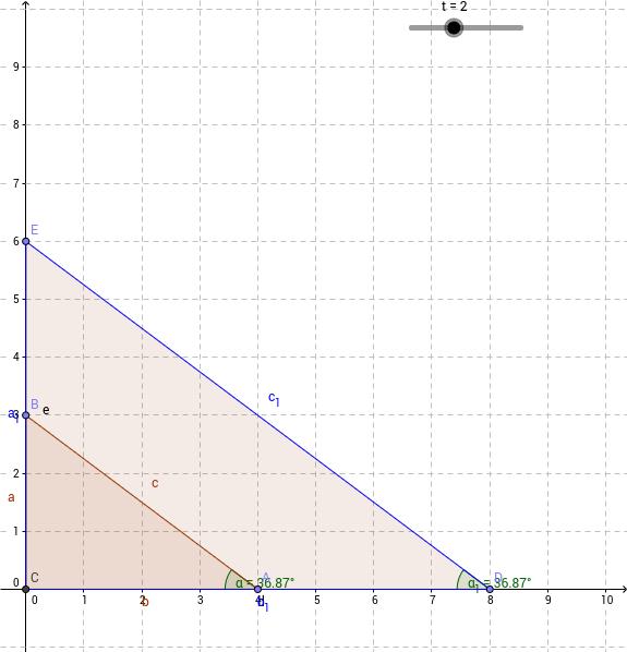 Winkelfunktionen im rechtwinkligen Dreieck - Einführung – GeoGebra