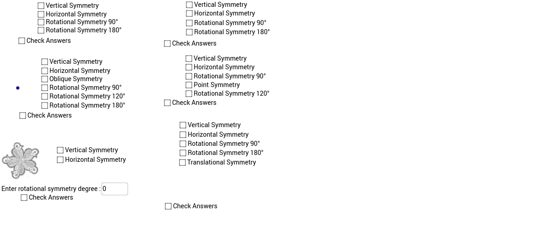 symmetry question boxes