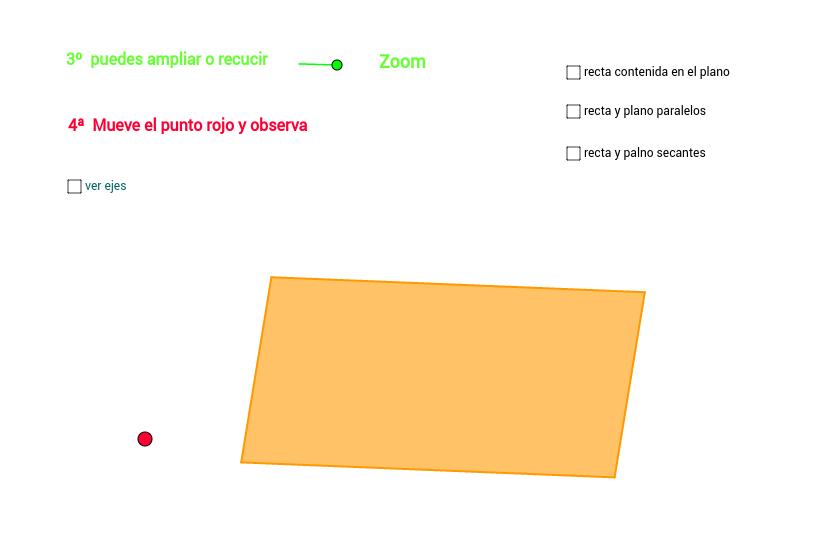 Posición recta y plano en el esapcio