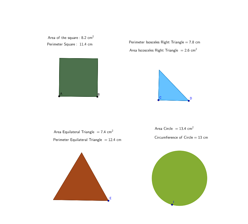Comparing Perimeter and Area for 2D Shapes - GeoGebra
