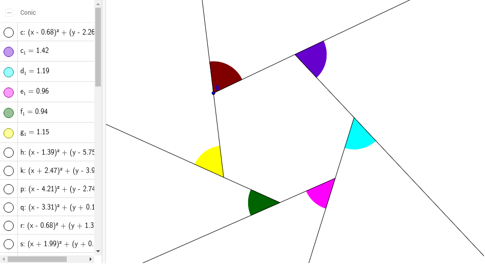 Sum Of The Exterior Angles Of A Hexagon Geogebra