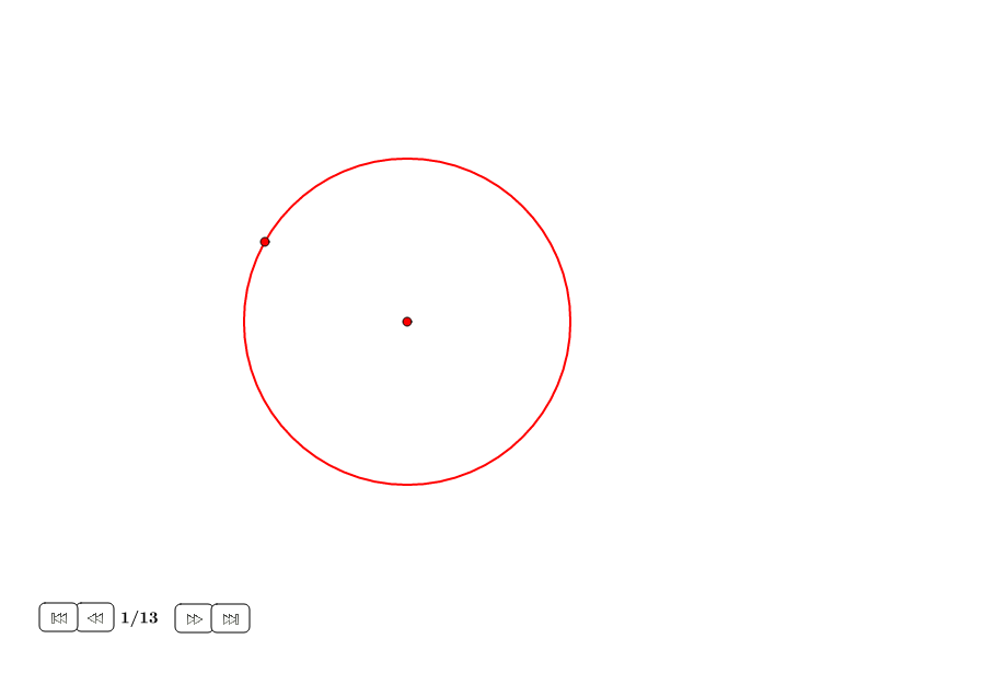División de un círculo en partes iguales