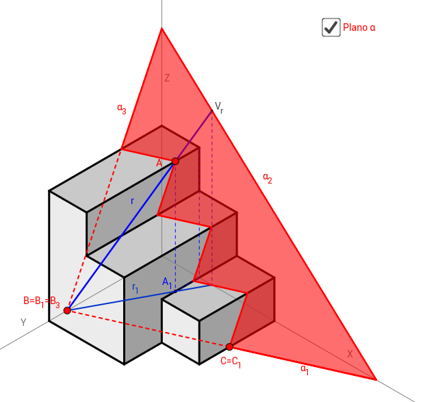 Isométrica: Secciones (PAU 2011 A4)