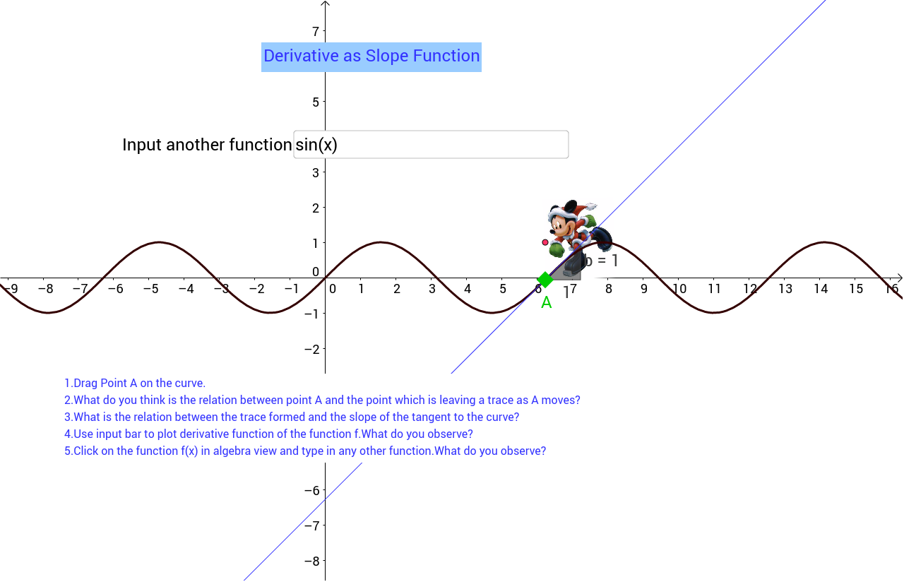 how to find slope on geogebra