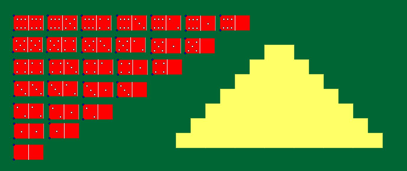Domino piramida kvadratnih brojeva