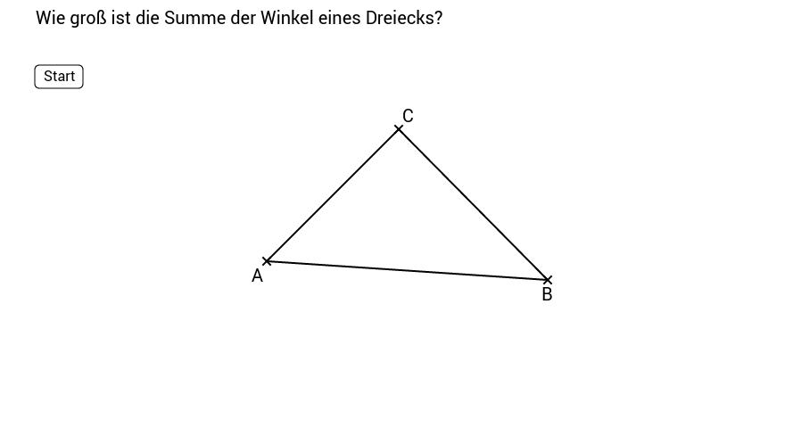 Die Winkelsumme im Dreieck 2