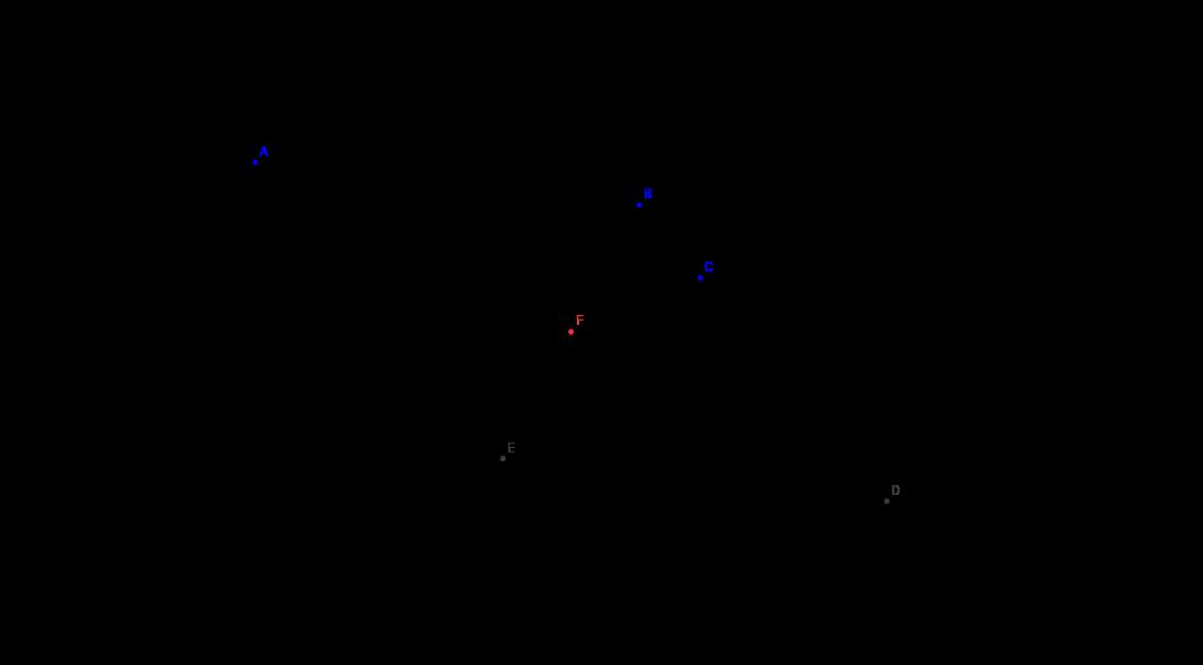 Rombusz szimmetria középpontjának szerkesztése