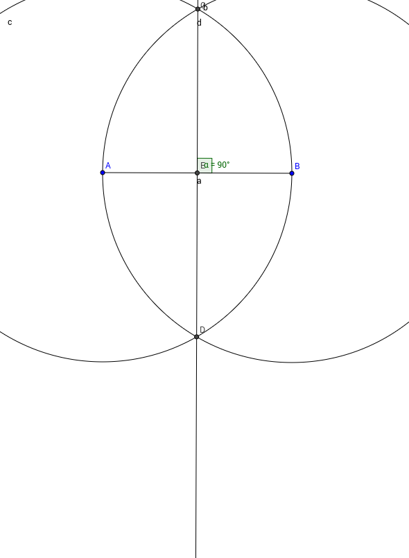 Line perpendicular to a Point on a Line