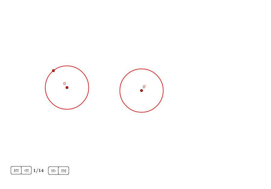 Tangentes internas a dos círculos iguales