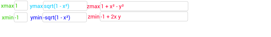 Volumen integral triple cartesianas