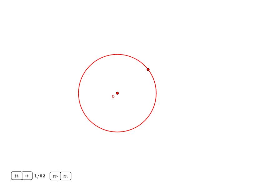 17-ágono regular en un círculo