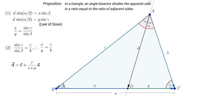 Angle Bisector, ratio of sides