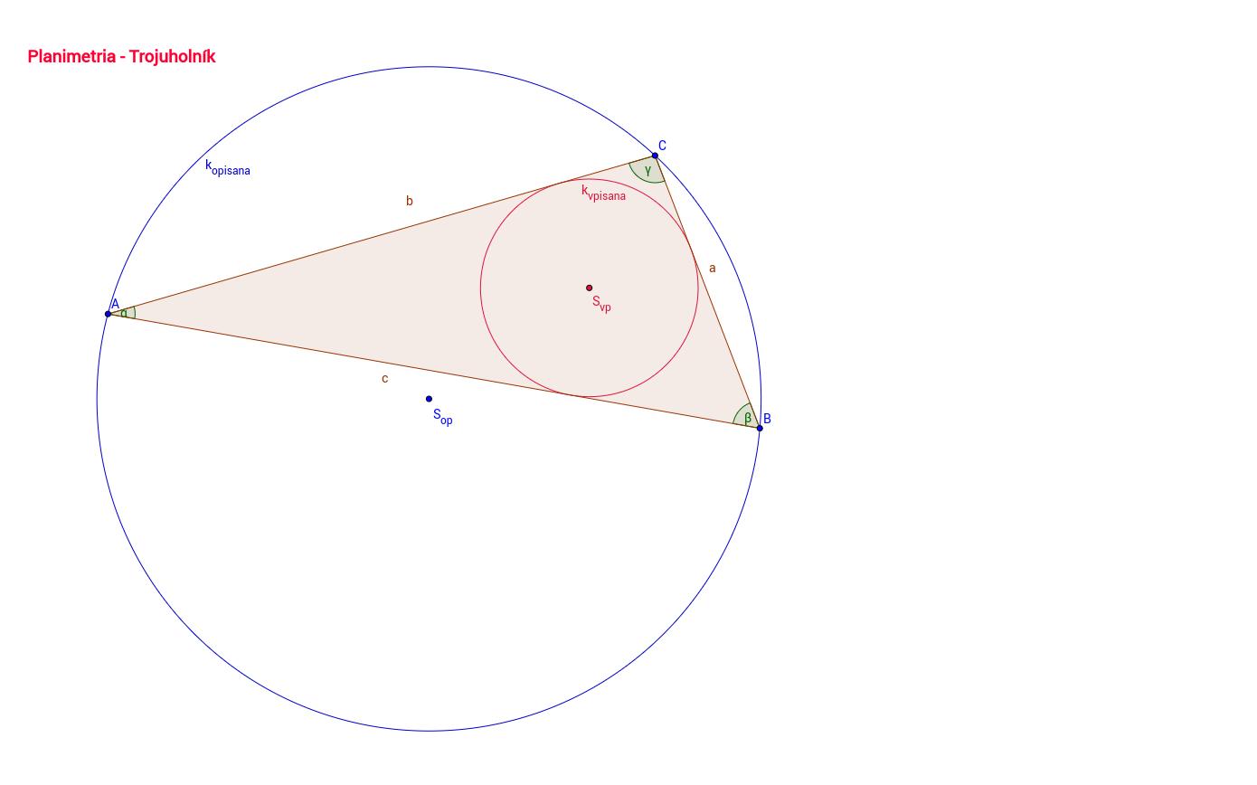 Opísaná a vpísaná kružnica trojuholníku