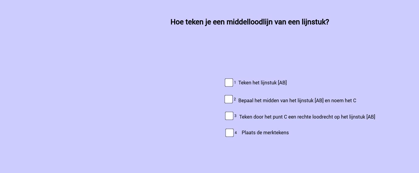 Hoe teken je een middelloodlijn?