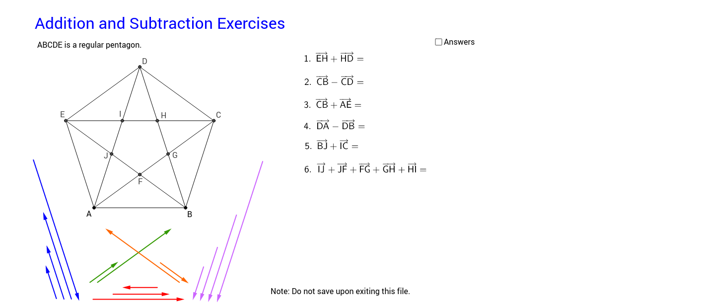 06 Addition and Subtraction Exercises