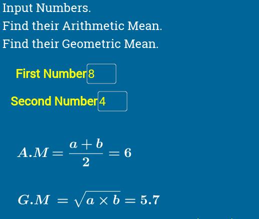 AM & GM Calculator