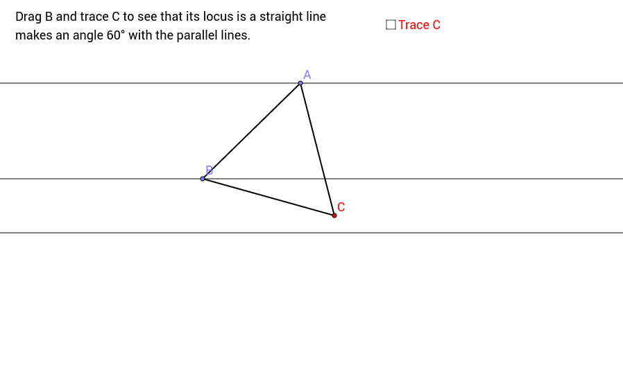 Triangle on Parallel Lines (Hint)