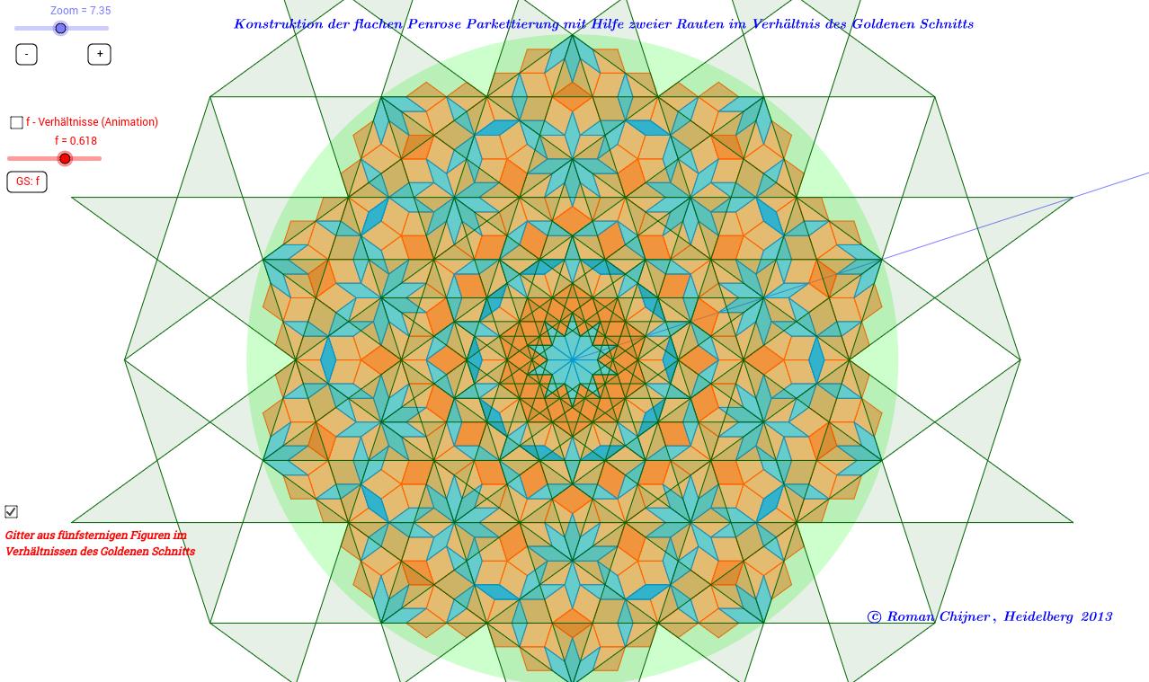 Nichtperiodische Parkettierung Penrose-Parkett_2