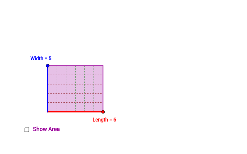 To Show the Area of a Rectangle