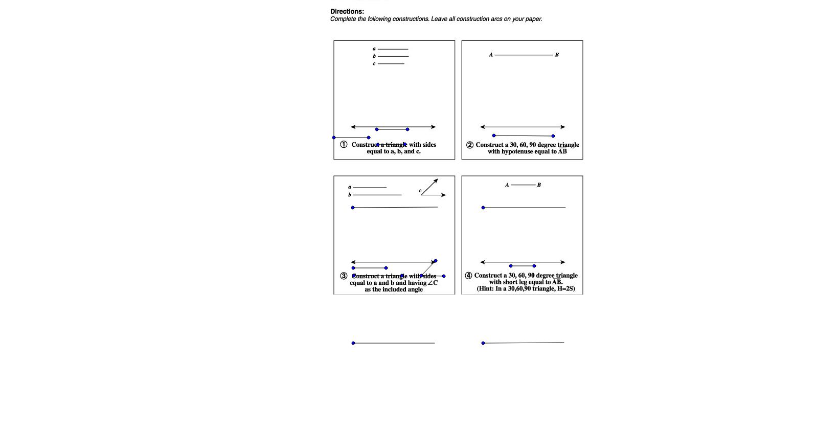 Lesson 11 Triangles 30-60-90