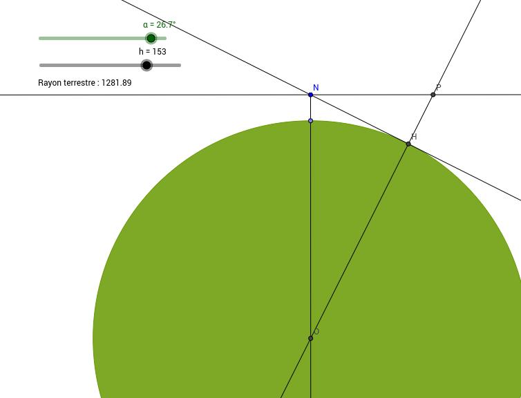 Calcul du rayon terrestre