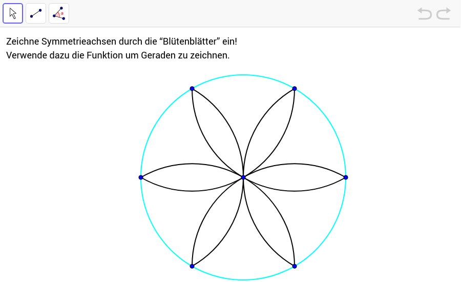 symmetrie und spiegelung geogebrabook