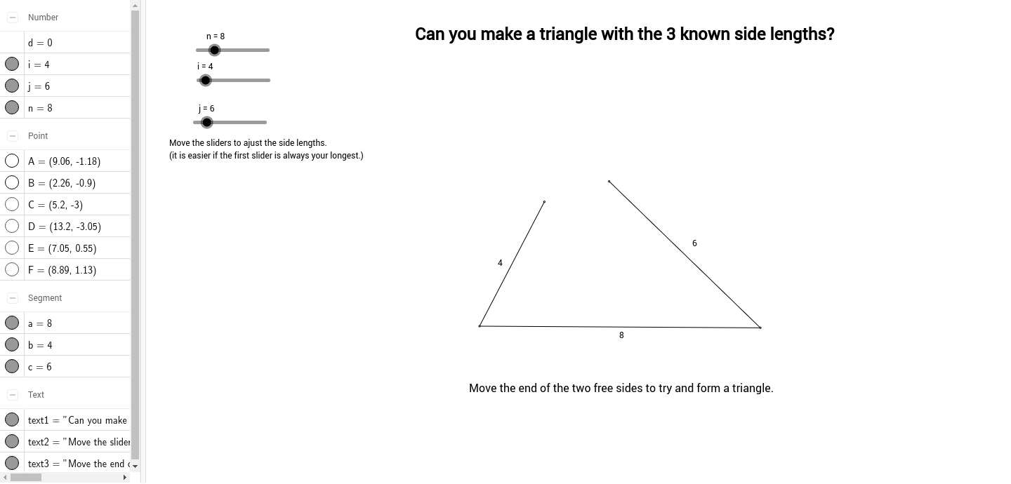 worksheet Triangle Inequalities Worksheet triangle inequality geogebra inequality