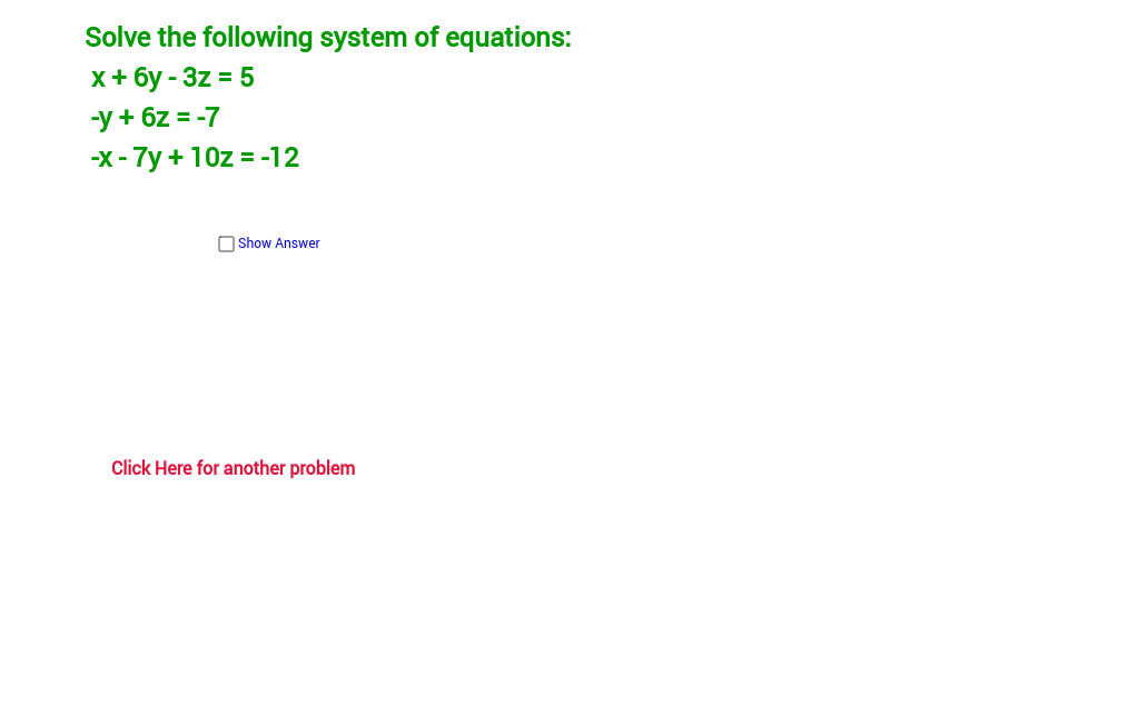 Copy of Solving a system of equations:  3 by 3