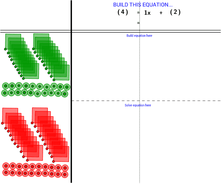 Solving Equations with model - GeoGebra