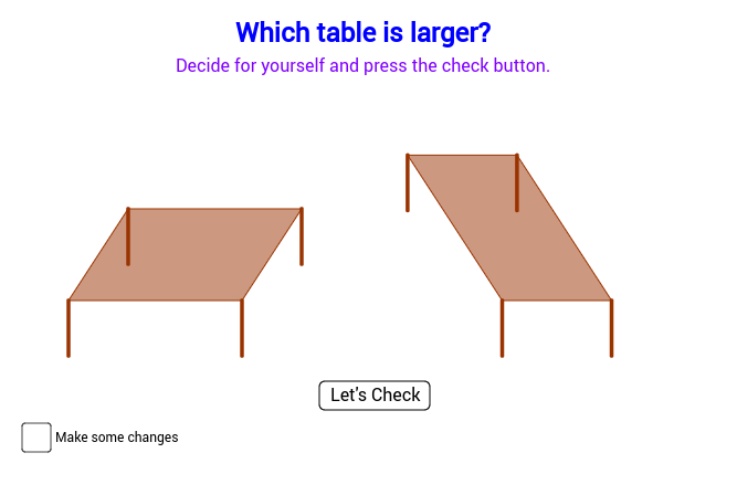 Comparing Tables