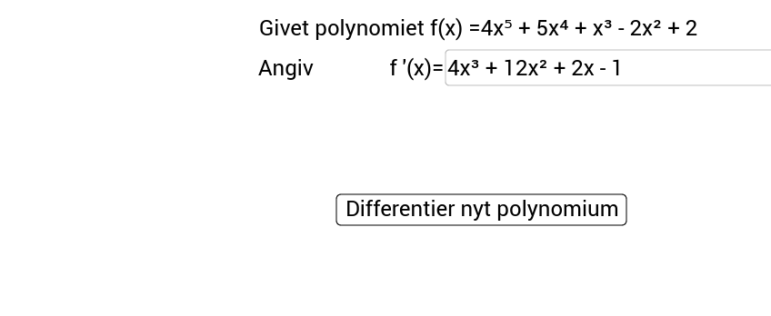 Differentiation af polynomium