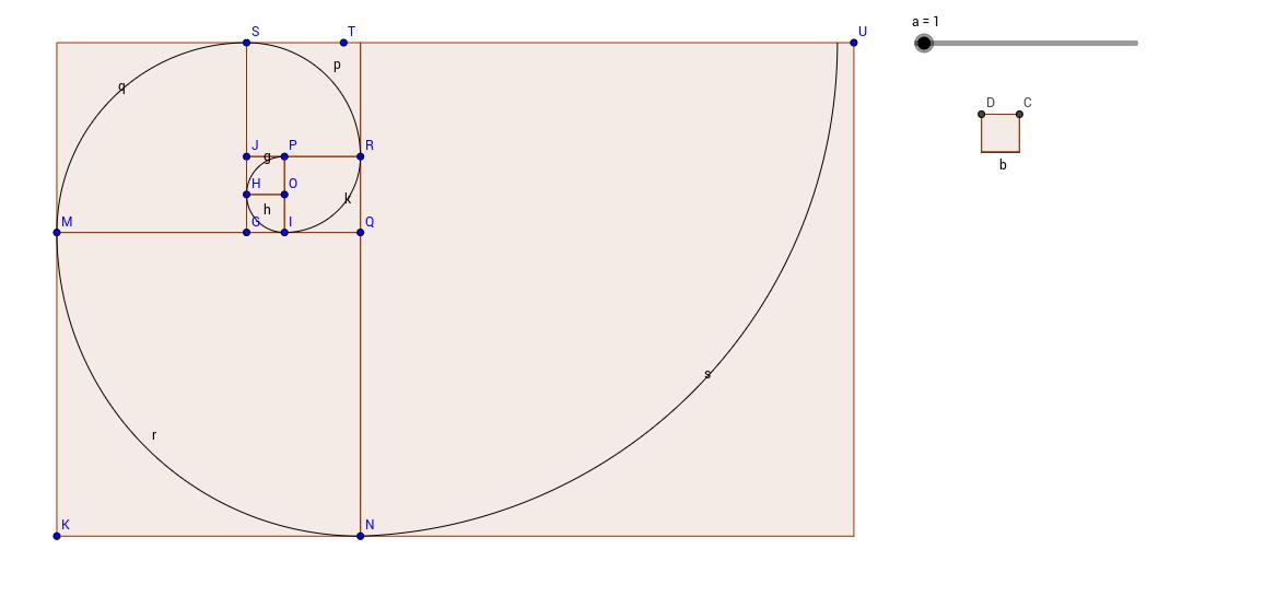 fibonacci spirál