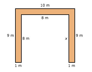 Perimeter = 54in  x=_____________________