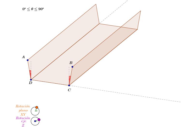 Canaleta con ángulo
