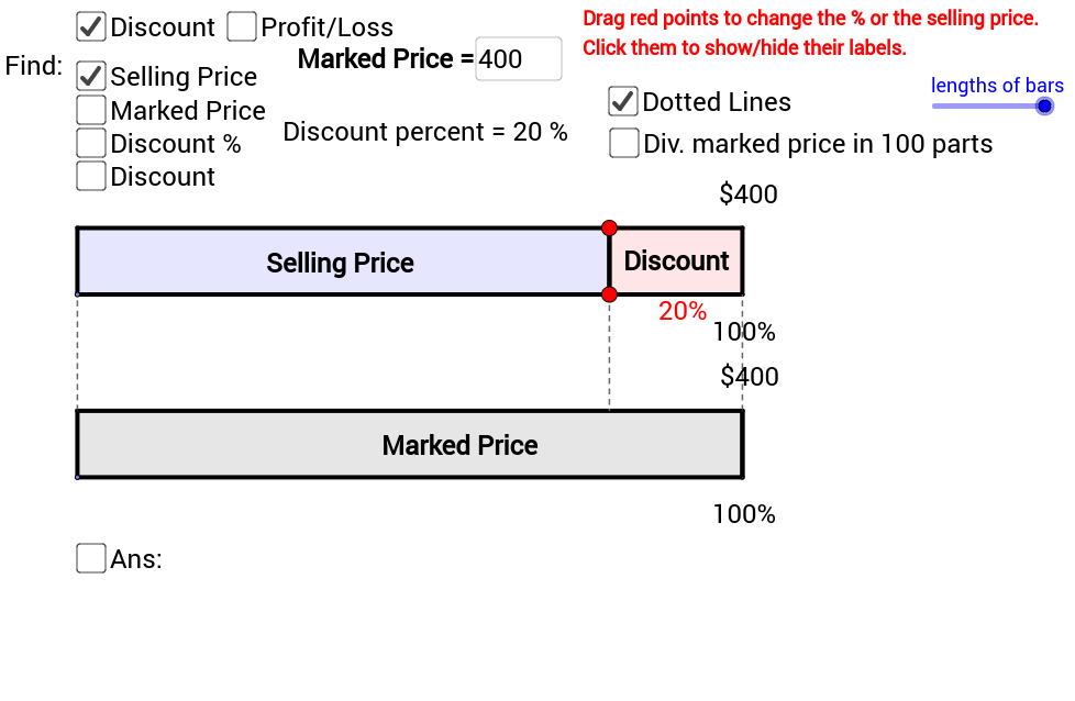 Percentages: Selling Problems (HTML5 Version)