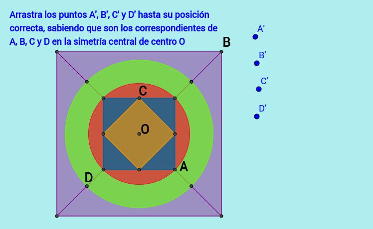 Correspondientes en la simetría central