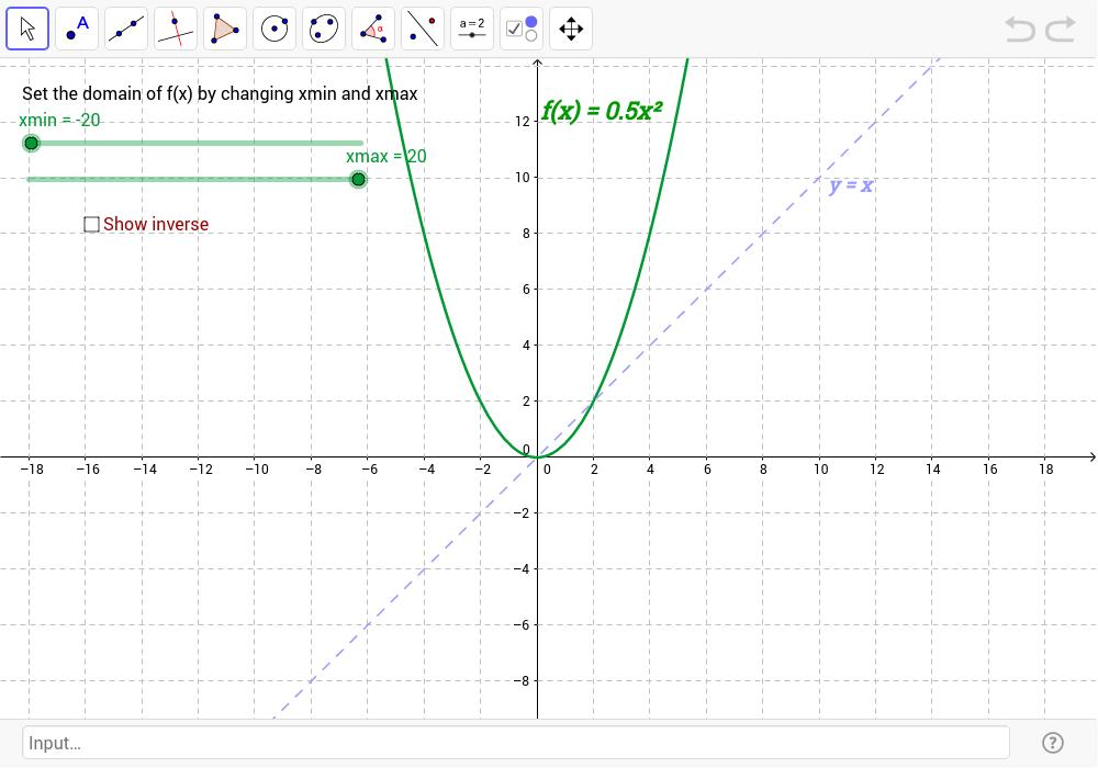 Investigation Inverse Functions GeoGebra – Inverse Functions Worksheet