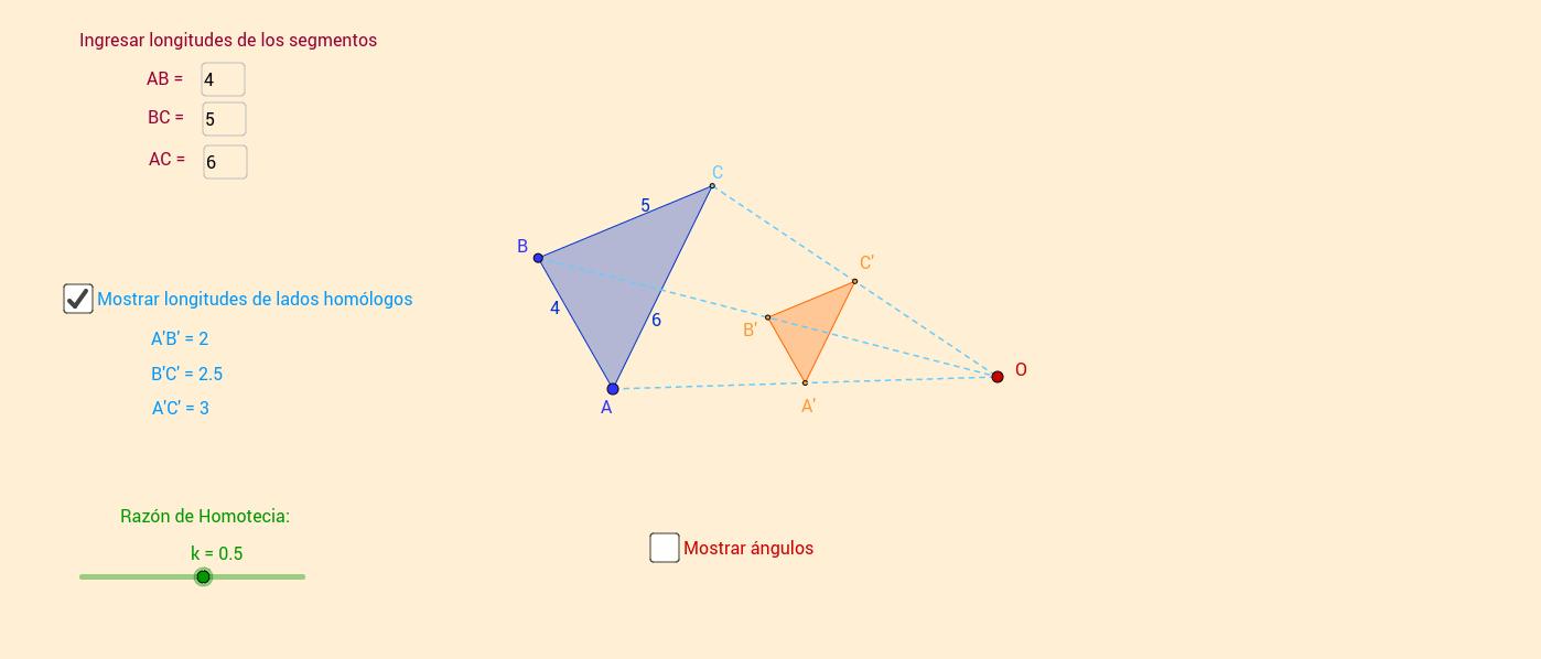 Homotecia de un Triángulo