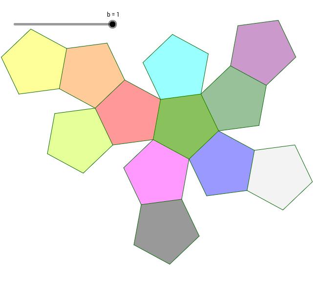 Dodécaèdre régulier (Développement et Mouvements)