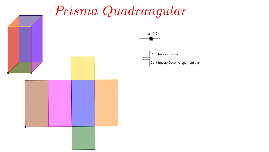 Construcció d'un Prisma Quadrangular