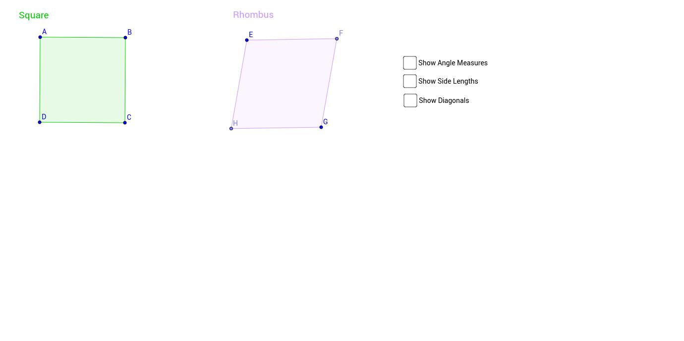 Squares and Rhombi