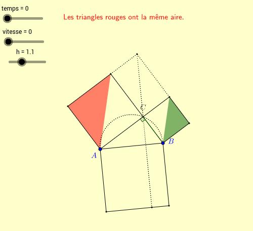 Théorème de Pythagore : La démonstration d'Euclide