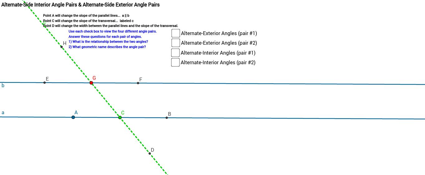 Alternate Exterior and Alternate Interior Angles