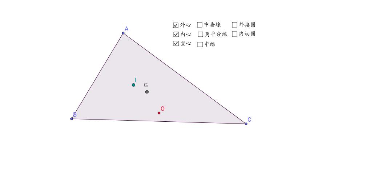三角形的三心觀察站