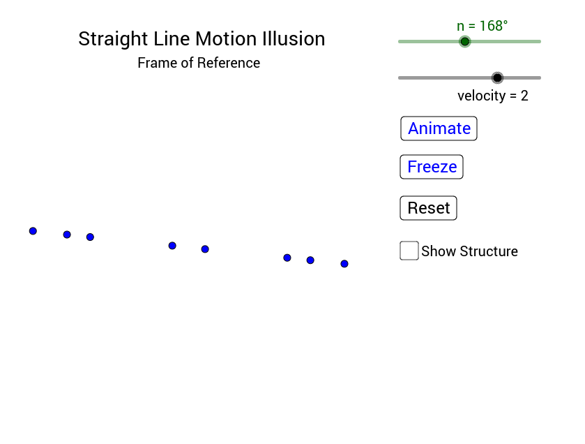 straight line motion illusion frame of reference geogebra. Black Bedroom Furniture Sets. Home Design Ideas