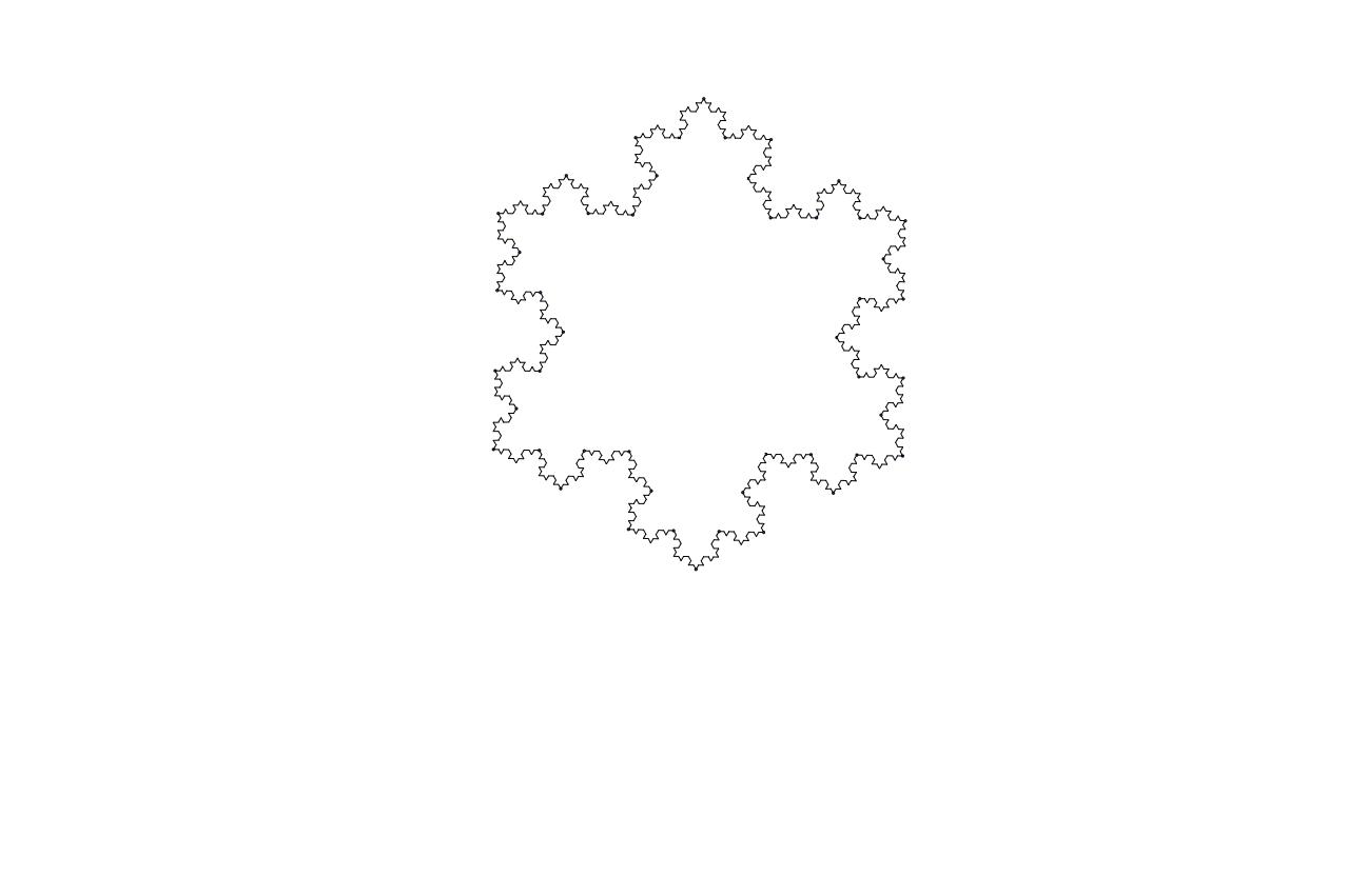 Koch snowflake 3